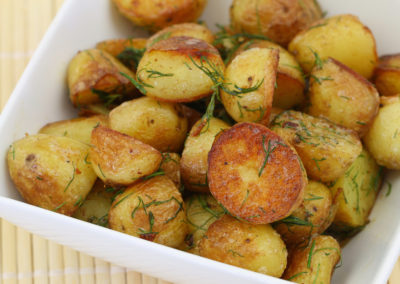 Baby Potatoes with Garlic and Dill
