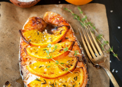 Orange-Ginger Salmon with Thyme