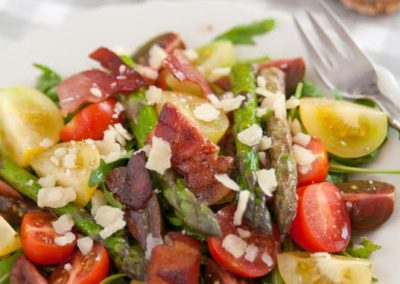 Arugula Asparagus and Tomatoes Salad